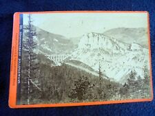 ALBUMEN/CABINET CARD: SEMMERINGBAHN~BOLLEROSWAND~ca 1870~RAILWAYS~WEINGARTSHOFER