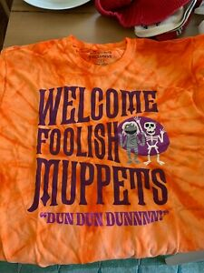 Muppets Haunted Mansion exclusive Disney Imagineering t-shirt, promo, size large