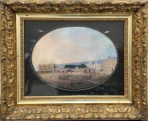 19th Century Italian Grand Tour Gouache painting