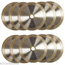 "10PK 4.5"" Standard Wet / Dry Cutting Continuous Rim Tile Diamond Saw Blade"