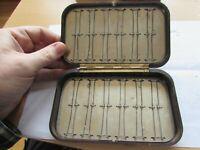 XX rare vintage hardy alnwick oxblood salmon tube neroda fly fishing box