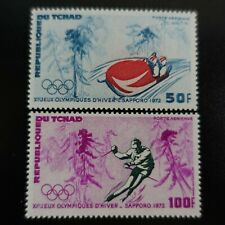 TCHAD POSTE AÉRIENNE PA N°111/112 JEUX OLYMPIQUES SAPPORO 1972 NEUF ** LUXE MNH