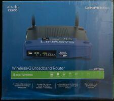 Linksys Wireless-G Router WRT54GL Broadband 54 Mbps 2.4 GHz New Sealed