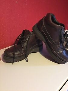 mens brown leather Lacoste boots Size 7 Great Condition Used
