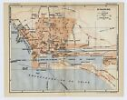 1926 ORIGINAL VINTAGE CITY MAP OF SAINT-NAZAIRE / BRETAGNE BRITTANY / FRANCE