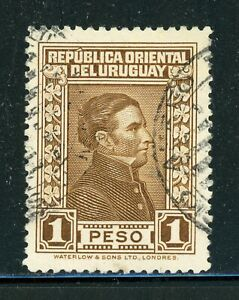 URUGUAY Used Selections: Scott #375 1P Brown Artigas WATERLOW CV$4+