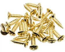 24 Pack of Pickguard Screws to fit Fender, etc, Gold Finish