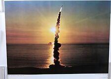U.S Air Force Official Photo Print 200th Minuteman 11 ICBM Blast Off 17x23 1968