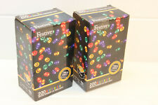 Lot of 2: Festive String Lights Battery Operated Timer LED multicolor 200 bulbs