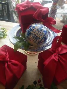 New Chinoiserie Blue & White Ornament 5 inch Tomtomandco