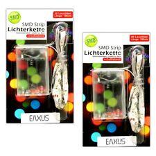 2x LED Streifen Batterie 1,8m | SMD Lichtband Lichtleiste | Streifen Band Strips