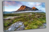 Glencoe Mountain Scotland Canvas Wall Art Picture Print