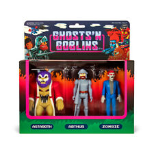 SUPER7 Ghosts n Goblins Astaroth Arthur Zombie ReAction Figures Set NEW