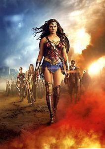 Wonder Woman Poster New Movie 2017 Gal Gadot DC Film, FREE P+P, CHOOSE YOUR SIZE