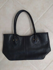 Clarks black bag purse satchel with brass studs