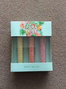 BNIB 3x30g Paradise Bath Salts