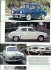 1956 1957 1958 1959 1960 1961 1962 - 1968 RENAULT DAUPHINE 10 pg COLOR ARTICLE