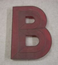 """""""B"""" 10"""" Tall Vintage Translucent Red Movie Marquee Letter SILHOUETTE SIGN"""