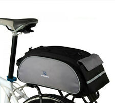 Cycling Bicycle Bike Pannier Rear Seat Bag 13L Rack Trunk Shoulder Handbag Black