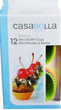 Casabella Muffin Cups Mini 2 Inch Silicone Set Of 12