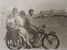 ANTIQUE MOTORCYCLE JAP ENGINE BRIGHTON PIER UK BEACH BOARDWALK RPPC PHOTO
