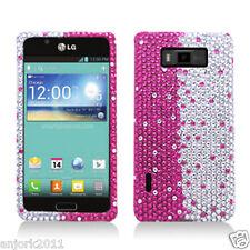 LG Splendor Venice US730 Diamond Case Snap-On Cover Accessory Layer Hot Pink