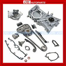 For Nissan 1.6L GA16DE Timing Cover Chain Kit Water Oil Pump Sentra 200SX NX1600