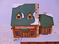 Vintage Porcelain Lemax Christmas Village Sunrise Coffee House 85307