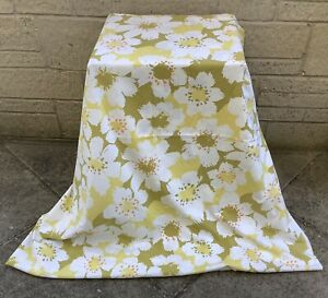 ORIGINAL VINTAGE RETRO FLORAL LARGE FLAT SHEET FABRIC MATERIAL ~ SHABBY CHIC
