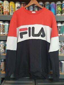 Fila Mens XL Jumper Sweater Sweatshirt Pullover Vintage Retro Rare Y2K