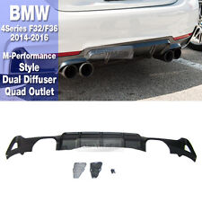 M Performance ST Rear Dual Diffuser Quad Outlet For BMW 2014-16 4 Series F32 F36