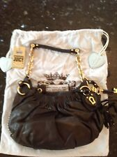 Vintage Juicy Couture black soft leather handbag