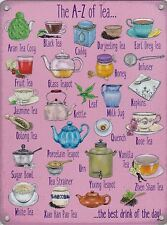 New 30x40cm A-Z of Tea large metal advertising wall sign