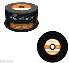 2xMR225] Vinyl-Look 100x Rohlinge CD-R 52fach 700MB Mediarange Spindel Discs