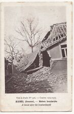 WW1 Ruins, Hamel, Somme, Maison Bombardee PPC, Shelled House, Unposted