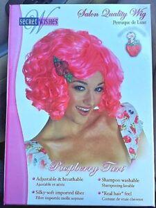 RASPBERRY TART Wig Secret Wishes STRAWBERRY SHORTCAKE Friend Halloween Costume