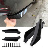 2x Universal Carbon Fiber Rear Bumper Lip Diffuser Splitter Canard Protector Car