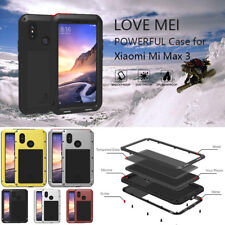 For Xiaomi Mi 8 Max 3 LOVE MEI Tempered Glass Waterproof Metal Hybrid Case Cover