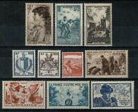 FRANCE 1945 Timbres du YT n° 734 au 743 Neufs ★★ luxe / MNH  BDF