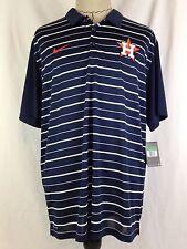 Houston Astros Nike Mens Polo Shirt XL Size Blue White Striped MLB Baseball NWT