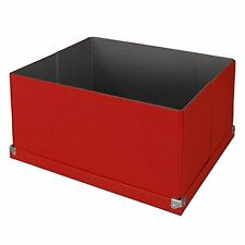 Pop n Store Decorative Storage Box with Lid - Collapsible - Large Mega Box - Red
