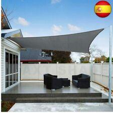 AXT SHADE Toldo Vela de Sombra Rectangular 3 x 4 m, protección  (3x4m, Gris)