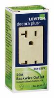 Leviton  Decora Plus  20 amps 125V volt Ivory  Outlet  5-20R  1 pk