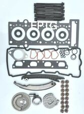 TIMING CHAIN KIT HEAD GASKET SET BOLTS MINI COOPER ONE 1.6 16V S R50 R52 R53