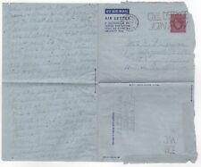 1951 Gb Kgvi Aerogramme Cover Brighton & Hove to Newcastle Australia Stationery