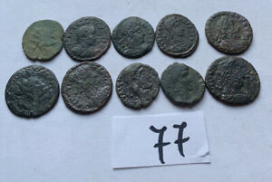 10Xunidentified AE Roman Coins