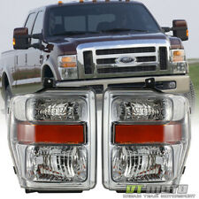 2008-2010 Ford F250 F350 F450 SD Superduty Headlights Headlamps Left+Right 08-10