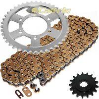 Gold O-Ring Drive Chain & Sprockets Kit for Kawasaki ZR1200 ZRX1200R 2001-2006