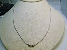 """Vintage Avon Sterling Silver Pearl Necklace, 18"""", 2.59gr. 1980's"""