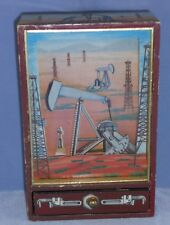 "RARE 1981 OTAGIRI Music Box ""Eyes of Texas"" Oil Well in Motion Jewelry Drawer"